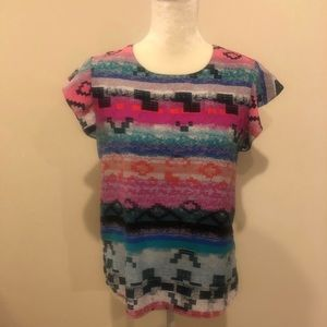 Metaphor Multicolored Top Size Med